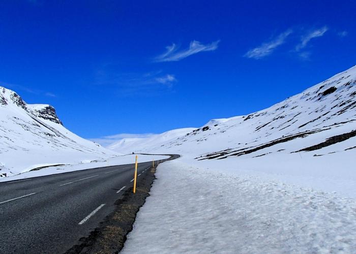 IJsland, de weg naar Borgafjordur Estri