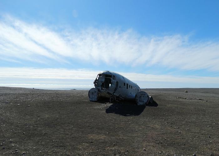 IJsland vik vliegtuig