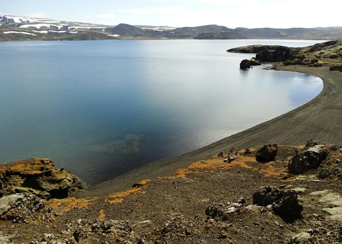 IJsland zwarte meer