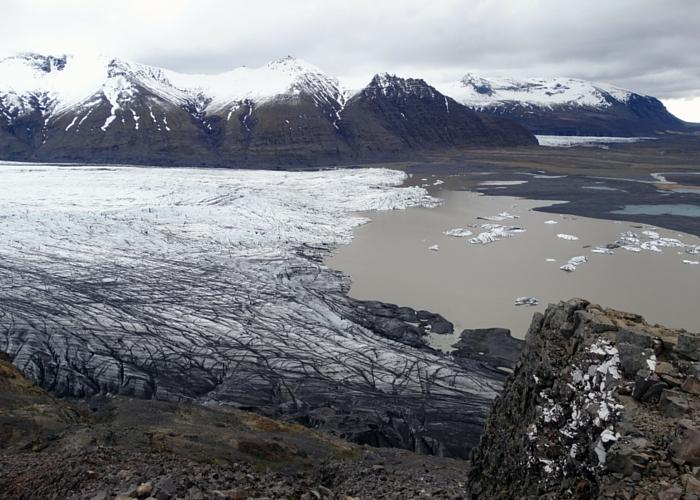 Skaftafell uitzicht gletsjer