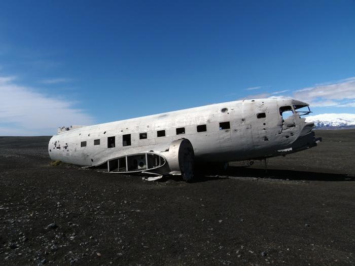 Vliegtuig Vik IJsland