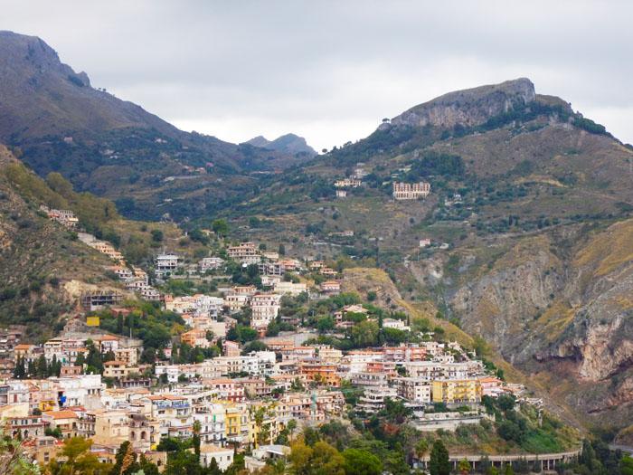 Het dorp Taormina Sicilië