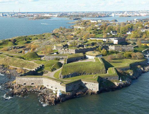 Het forteneiland Suomenlinna in Helsinki Finland