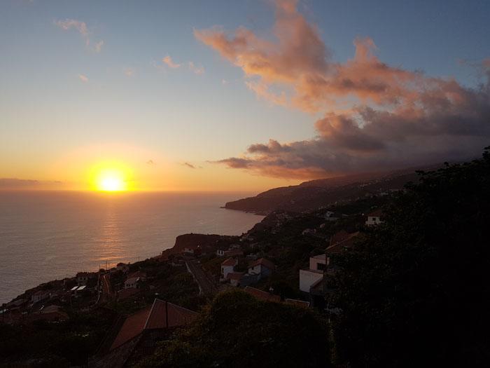 Zonsondergang Madeira Portugal