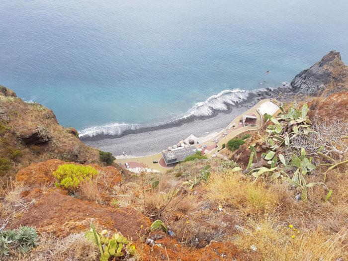Kiezelstrand van Madeira