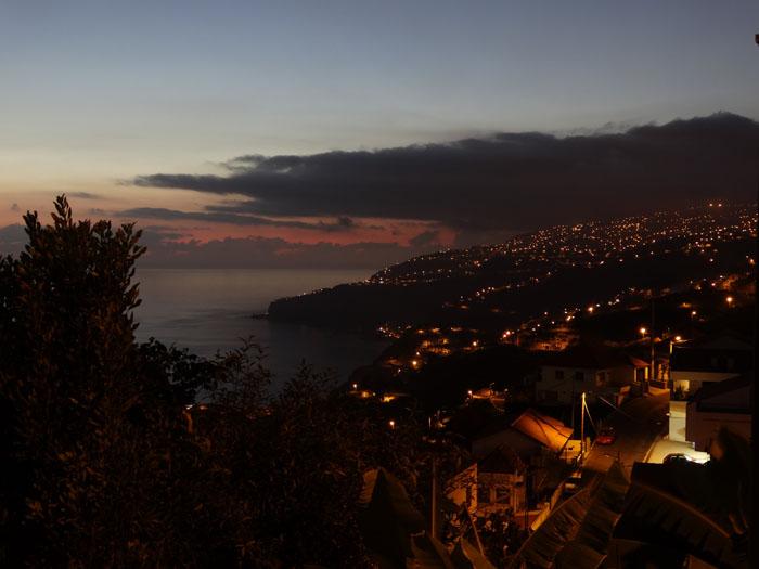 Madeira als de avond valt