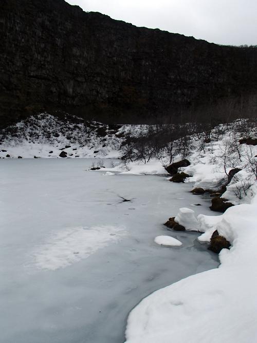 Meer Mývatn, IJsland in de winter