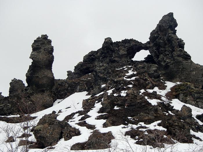 Lavaformaties Mývatn IJsland