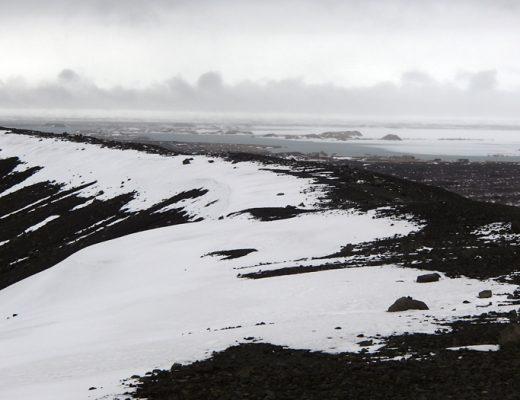 Winter in Mývatn IJsland