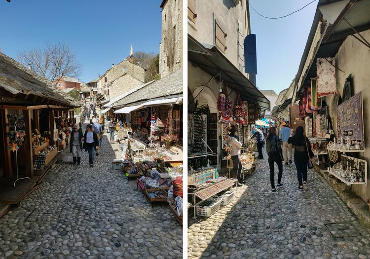 Oude centrum van Mostar Bosnië en Herzegovina